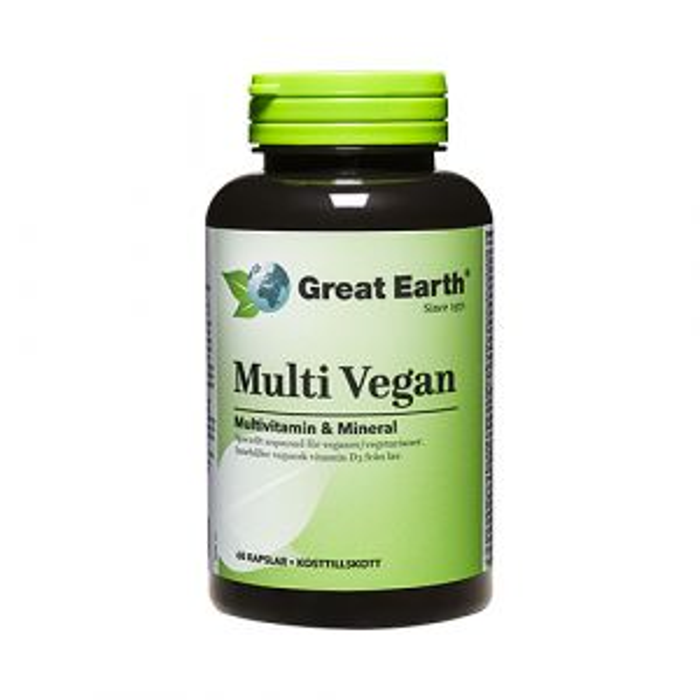 Great Earth Multi Vegan, 60 kapslar