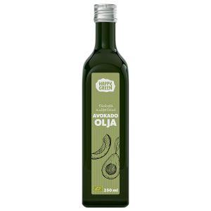 Happy Green Avokadoolja Kallpressad, 250ml ekologisk
