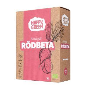 Happy Green Rödbetsjuice  Bag-in-Box ekologisk