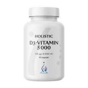 Holistic D3-vitamin 5000 125 mg – Kosttillskott med D-vitamin