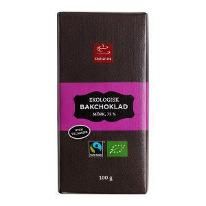 Bakchoklad mörk 72%, 100 g ekologisk