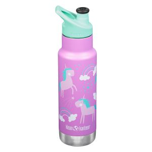 Klean Kanteen Kid Classic Isolerad Unicorns – Isolerad flaska i 18/8 rostfritt stål