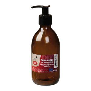 Pumpflaska Amber Glas, 300 ml