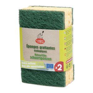 Tvättsvampar Grön, 2-pack