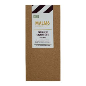 Malmö Chokladfabrik Bakchoklad Mörk Vegan – ekologisk choklad