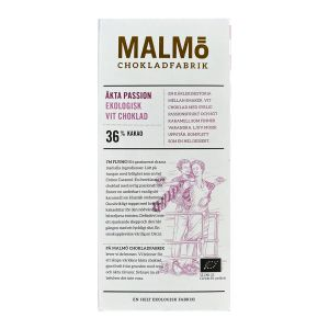Malmö Chokladfabrik Tegel Chokladkaka Äkta Passion 36% – ekologisk choklad