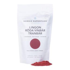Nordic Superfood Lingon, röda vinbär & tranbär