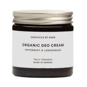 Organics by Sara Organic Deo Cream Peppermint & Lemongrass