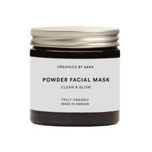 Organics By Sara Powder Facial Mask Clean & Glow - en naturlig ansiktsmask