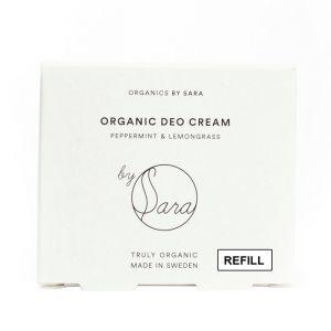 Organic Deo Cream Refill Peppermint & Lemongrass, ca 60ml