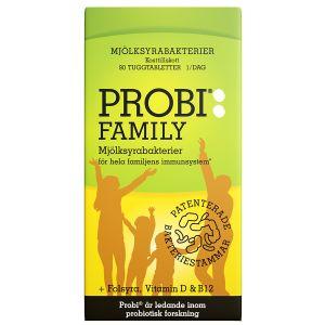 Probi Family, 90 tuggtabletter – kosttillskott med mjölksyrebakterier