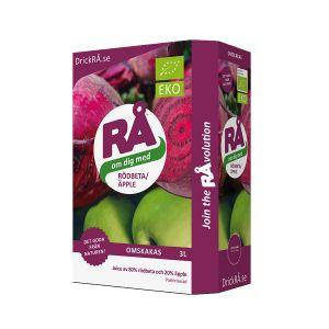 RÅ Rödbeta & Äpple Juice Bag-in-Box – En ekologisk juice