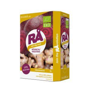 Rödbeta & Ingefära Juice Bag-in-Box, 3l ekologisk