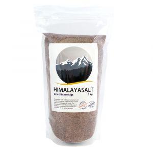 Himalayasalt svart finkornigt, 1kg