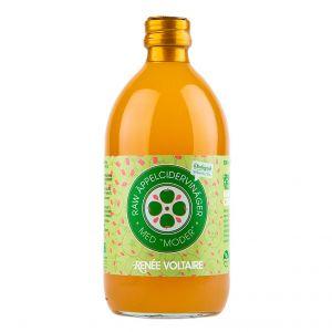 Renée Voltaire Raw äppelcidervinäger med moder – Ekologiskt och fermenterad äppelcidervinägerdryck