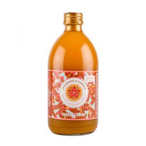 Renée Voltaire Raw Äppelcidervinägerdryck Ceylon Kanel & Gurkmeja – Ekologiskt och fermenterad äppelcidervinägerdryck