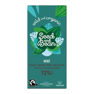 Seed and Bean Choklad Mörk Mint – handgjord choklad