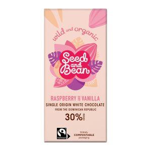 Seed and Bean Choklad Vit Hallon & Vanilj – handgjord choklad