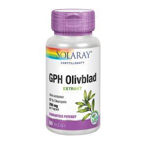 Solaray GPH Olivblad, 60 kapslar