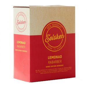 Solsken Rabarber Lemonad 3l bag in box – 100% ekologiskt lemonad