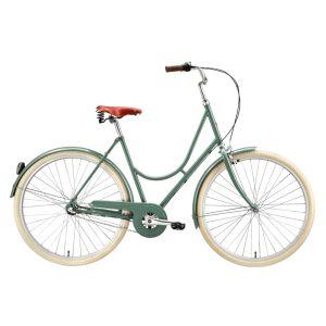 """Stålhästen Damcykel 28"""" Grön – En klassisk damcykel"""