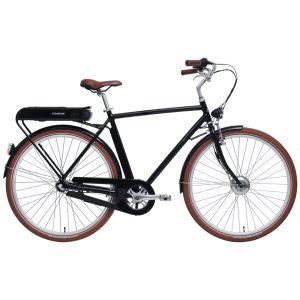Stålhästen Prima Elcykel Herr Blanksvart – En snygg elcykel med kraftig motor
