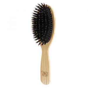 Tek Stor Oval 100% äkta vildsvinsborste  – naturlig hårborste
