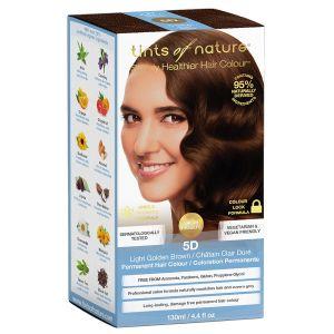 5D Light Golden Brown hårfärg, 130ml 60% ekologisk