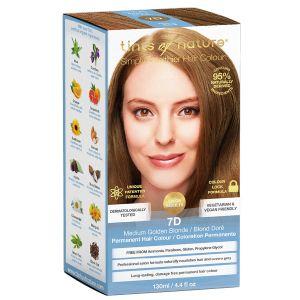 7D Medium Golden Blonde hårfärg, 130ml 60% ekologisk