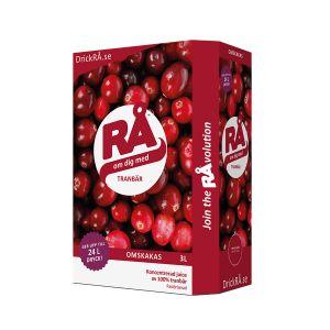 RÅ Tranbär Bag-in-box  – Ekologisk Tranbärsjuice