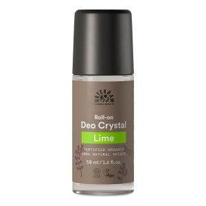 urtekram lime deo crystal 50ml roll on ekologisk