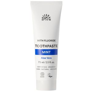 urtekram mint toothpaste aloe vera fluor 75ml ekologisk