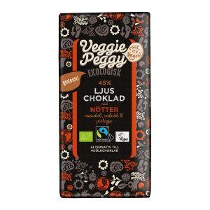 Choklad Ljus Nötter, 80 g ekologisk