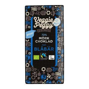 Choklad Mörk Blåbär, 80 g ekologisk