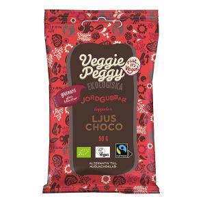 Veggie Peggy Chokladdoppade Jordgubbar – vegansk choklad