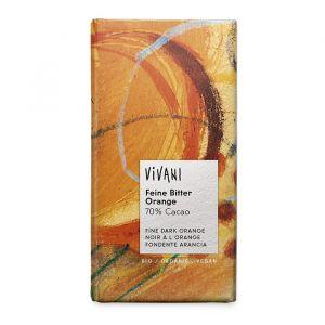 Mörk Choklad 70% Apelsin, 100g ekologisk