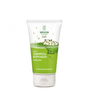 Kids Shampoo & Body Wash Lively Lime, 150 ml ekologisk