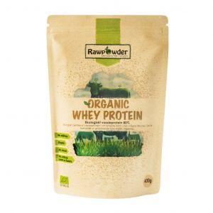 Organic Whey Protein 80% vassle, 400g pulver ekologisk