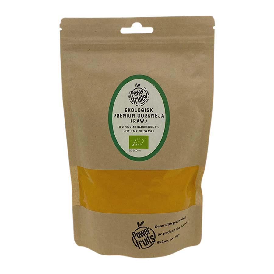 Powerfruits Gurkmeja Premium minst 4% Curkumin, 250 g ekologisk