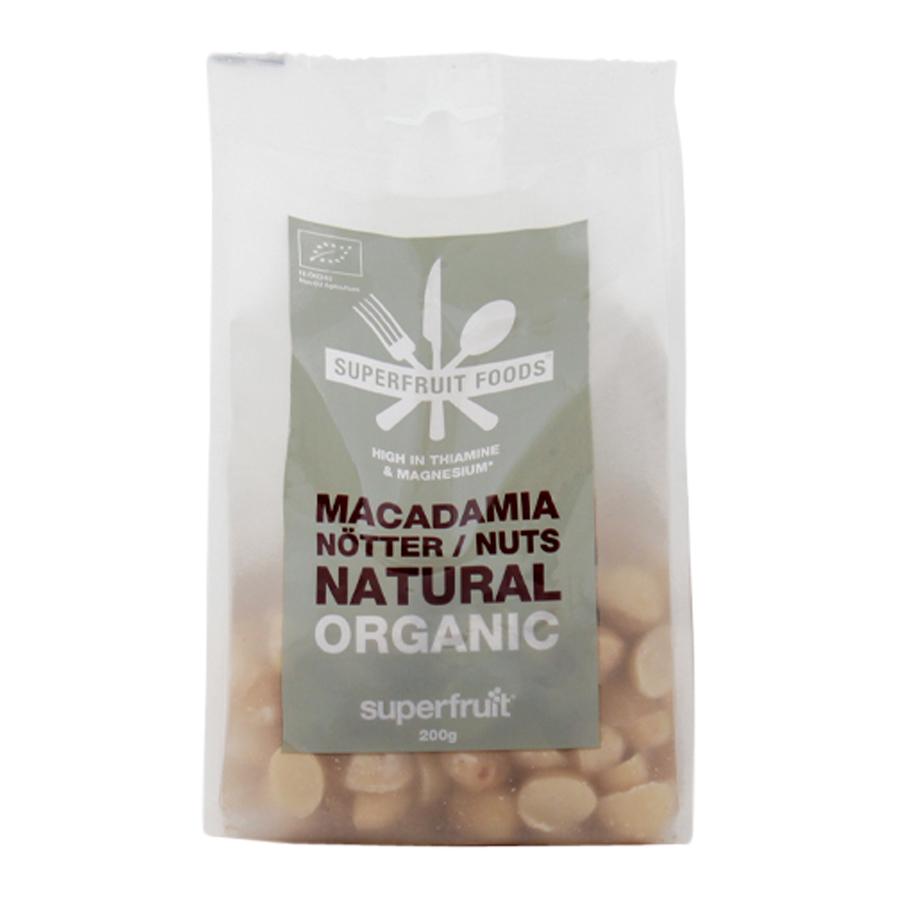 Superfruit Macadamianötter Naturella, 200g ekologisk