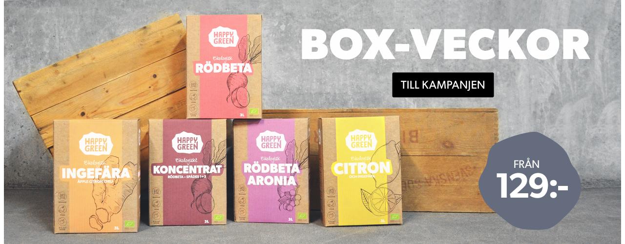 Happy Green bag-in-box juice – från 129 kronor.