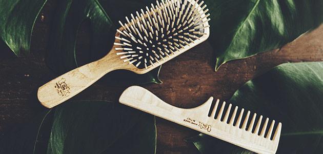Bild på tre hårborstar från TEK