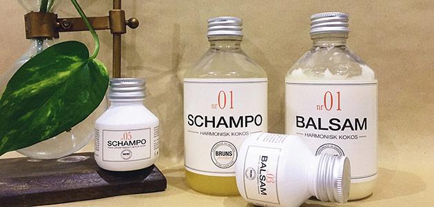Bild på bruns schampo och balsam